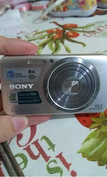 Câmera Sony 16.1 Mpx Cartão 8gb. Câmera Ótima