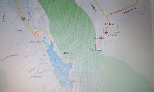 Terreno Atras De La Presa De La Boca Sobre Carretera