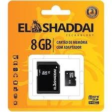 Kit 5 Cartão De Memória 8gb Micrsd C/adapt Cl4 - El Shaddai
