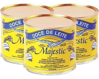 3 Latas Doce De Leite Majestic 2kg Café M Duarte