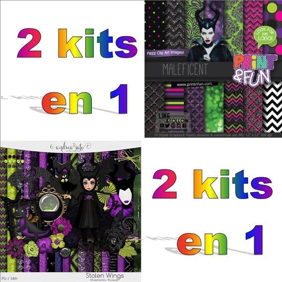Kit Imprimible Malefica Png Clipart Fondos Combo X2 Kits