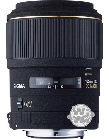 Objetiva Sigma Para Cânon 105mm F/2.8 Ex Dg Macro (usada)