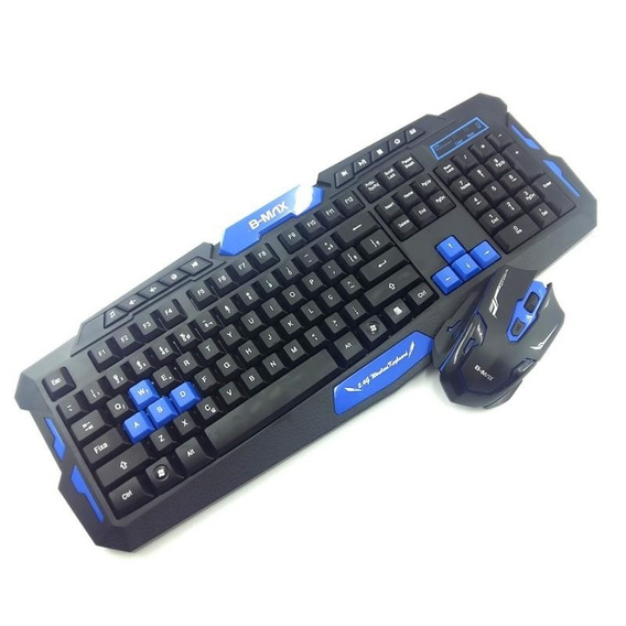 Kit Teclado E Mouse Gamer Wireless Hk8100 1000/1600 Dpi