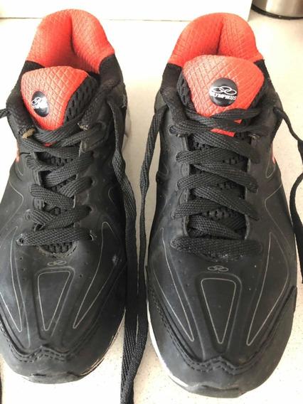 Zapatillas Olympikus Unisex Negras Con Naranja 37 Impecables