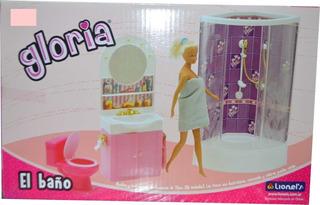 Baño Muñecas Gloria Casita Barbie O Simil Rosario