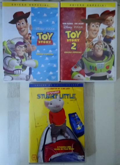 Lote Dvd: Toy Story 1 E 2+ O Pequeno Stuart Little Originais
