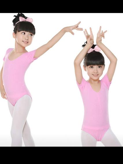 Mallas De Ballet Danza Para Nenas Mangas Cortas