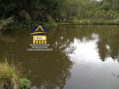281 Belo Terreno Com Lago Em São Lourenço Da Serra,não Perca