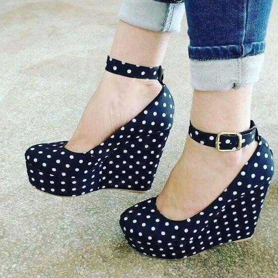 Sapatos Femininos Sandalias Anabela Poa