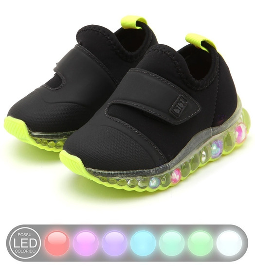 Zapatillas Led Luces Bibi 22/32 Art 1079025 Prende Al Pisar