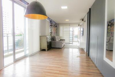 Apartamento No 7º Andar Mobiliado Com 1 Dormitório E 1 Garagem - Id: 892934786 - 234786