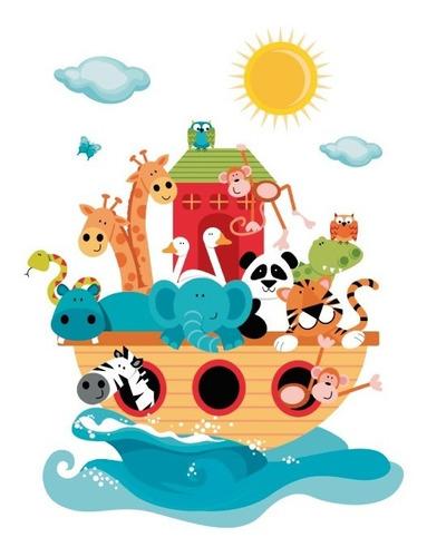 Vinilo Decorativo Infantil Animalitos-i 07 Arca De Noé, Bebé