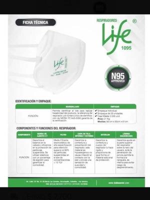 Tapabocas N95 Life Nioshi Certificados Entrega Inmediata