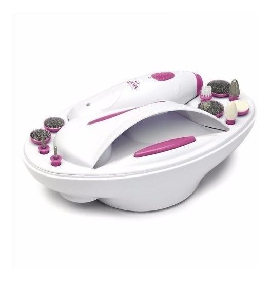 Kit Set Manicura Pedicuria Gama Nails Spa Torno 11 En 1 Uñas