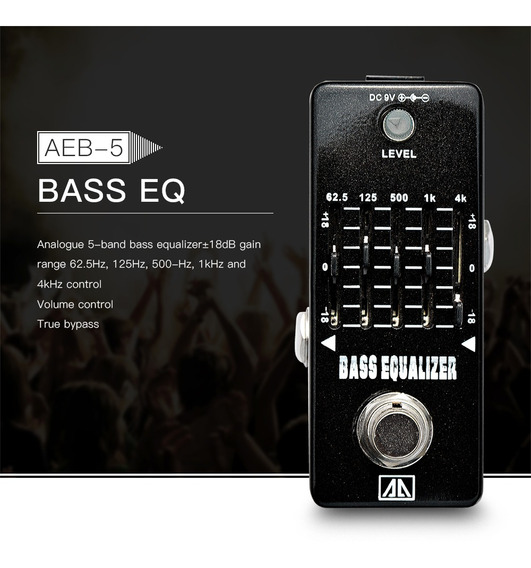 Aroma Aeb-5 Eq Gráfico Eq Baixo Equalizador De Guitarra Efei