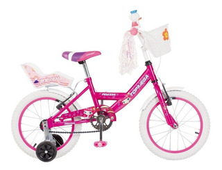 Bicicleta Nena Niña Cross Top Mega Princes R12 Ruedas +led