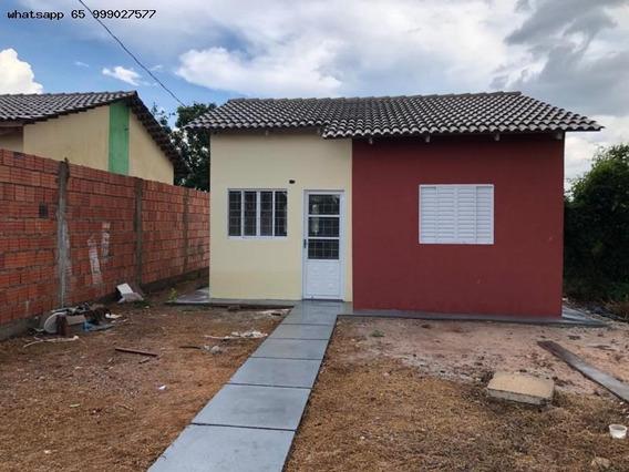 Casa Para Venda Em Cuiabá, Pedra 90, 2 Dormitórios, 1 Banheiro, 2 Vagas - 333_1-1323827