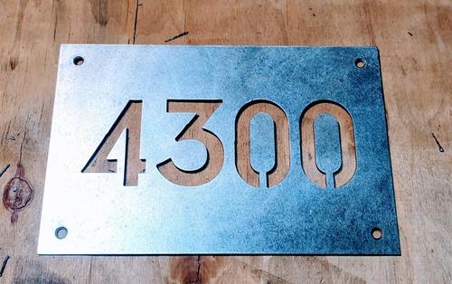 Numero De Puerta Hierro 23x15cm