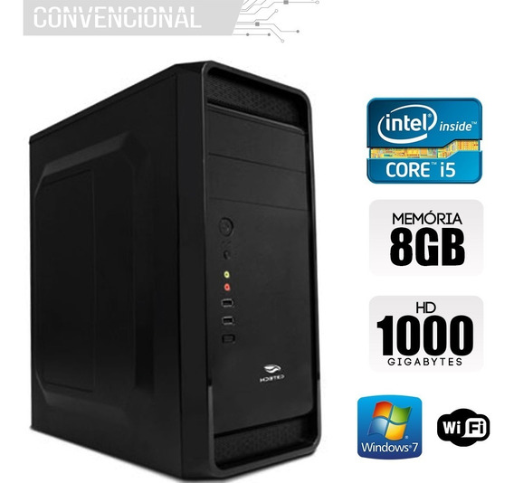 Computador Intel Core I5 4460, 8gb Ram, Hd 1tb, Windows 7