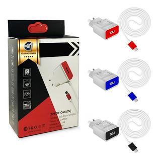 Cargador Rápido Con Cable 2a Celulares Con Ficha Micro Usb
