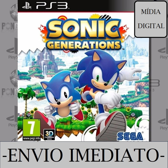 Sonic Generations Ps3 Psn Mídia Digital Play 3