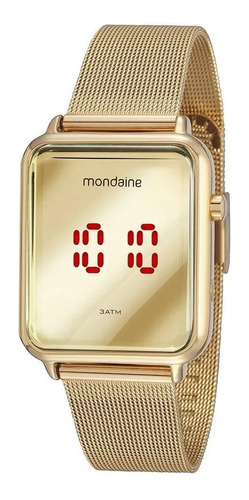 Relogio Mondaine Feminino Digital Dourado