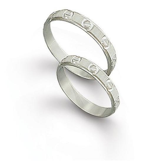 Anillos Matrimonio Plata 925 Cód. 183 ¡ El Par !