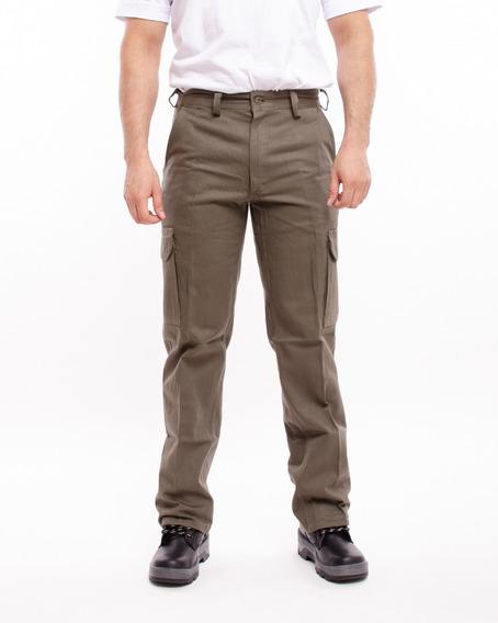 Pantalon Cargo De Trabajo Pampero 38 Al 54 Pam101