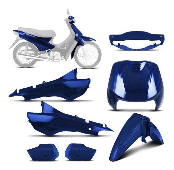 Kit Carenagem Biz 100 Completo Pro Tork Azul 1998 À 2005