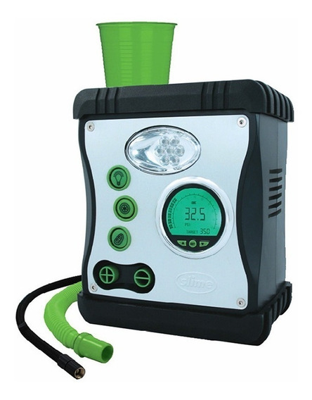 Compressor Ar Manômetro Digital Lanterna Colocar Selante