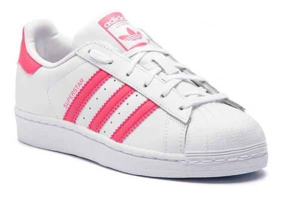 Tenis adidas Superstar Foundation Originals Rosa E Branco