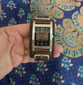 Relógio Guess Original Importado - Bracelete Em Couro Marrom