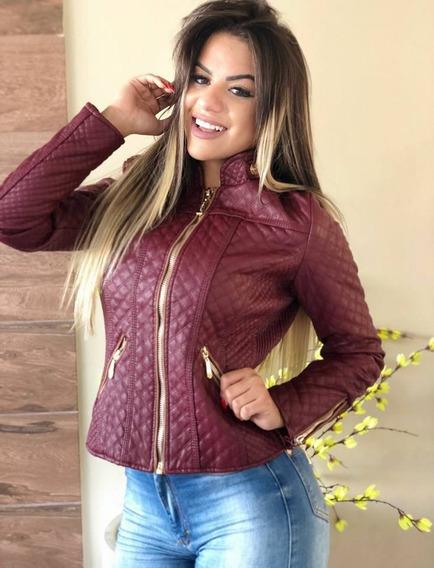2 Jaquetas Feminina Matelassê E Couro Ecológico