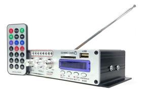 Mini Amplificador Audio Va-502r 12v + Cabo Rca Grátis