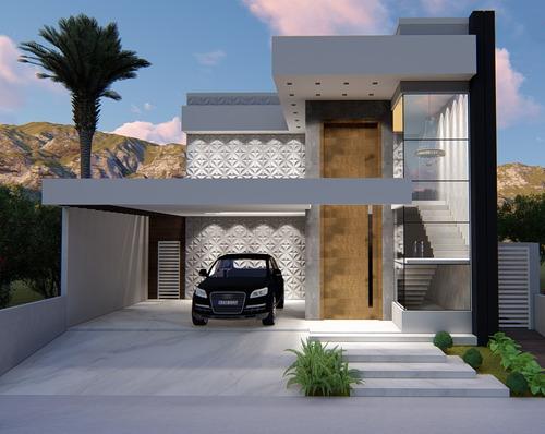 Imagem 1 de 8 de Planta De Casa 3 Quartos - Projeto Arquitetônico Completo