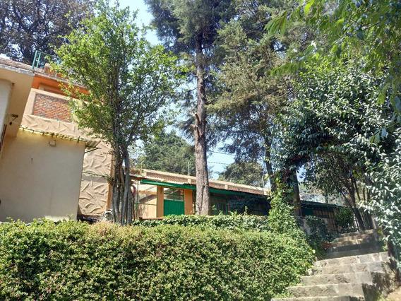 Casa De Campo Rústica En La Cdmx Con Vista En Milpa Alta