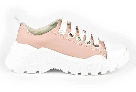 Tenis Urbanos Para Mujer Lob Footwear 748-9950 Rosa Nuevo Oi19