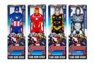 Muñeco Avengers 30cm Titan Capitan America Spider Man Iron