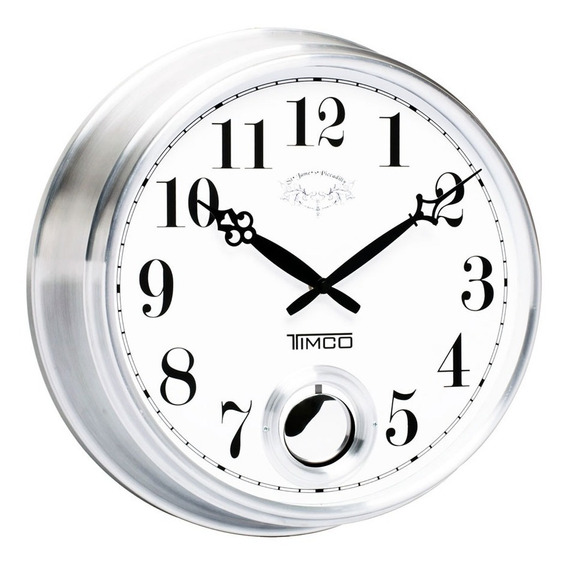 Reloj De Pared Con Movimiento Pendular 36.5 Cm Hyw170
