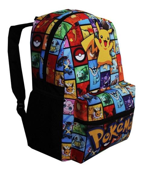 Mochila Pokemon Infantil Pikachu Masculina Costas Escolar
