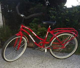 Bicicleta Rodado 24 Roja Playera