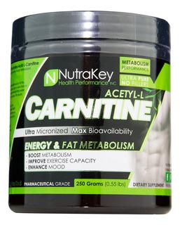 Nutrakey Acetil-l-carnitina Em Pó (250g)