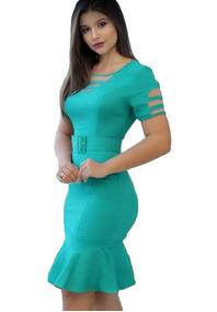 Vestido Evangelico Com Cinto Moda Joven Roupas Barato