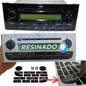 Kit Adesivo Resinado 3 Camadas - Rádio Fiat Linea E Punto
