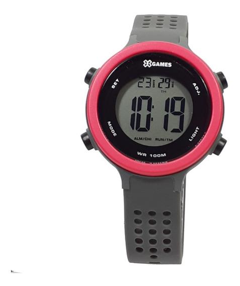 Relógio Feminino X-games Xfppd071 Vermelho Pulseira Cinza