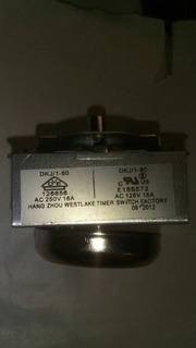 Timer Reloj Para Horno Eléctrico Grill 60 Minutos Repuesto