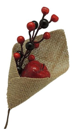 Pick Manzanas Y Berries Rojos Yute X6 Unidades