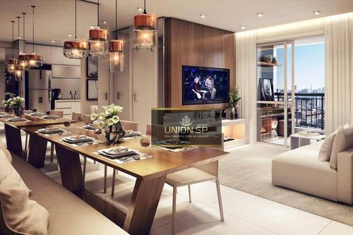Apartamento Com 2 Dormitórios À Venda, 55 M² Por R$ 450.000,00 - Brás - São Paulo/sp - Ap47153