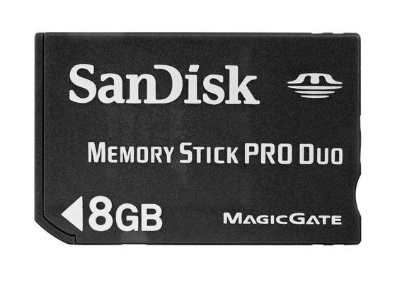 Cartão De Memória Stick Pro Duo 8gb Para Câmera Sony
