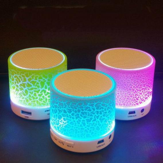 Caixa De Som Bluetooth Iluminario De Led Rgb Crackelado